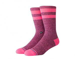 Load image into Gallery viewer, Stance Casual Crew Socks - 'Joven Pink/Black '