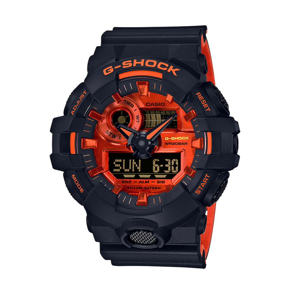 G-Shock GA700BR-1A - 'Black/Fire Chrome''