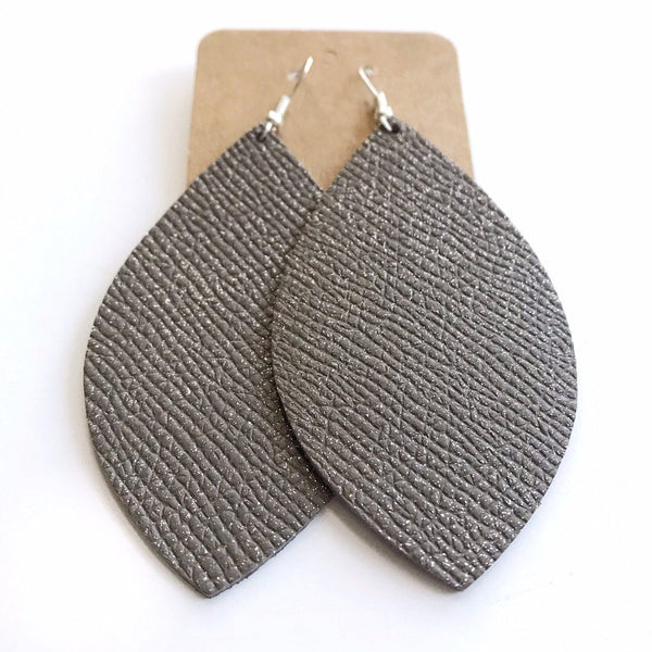 Stardust Shimmer Leather Earring - Styled Simplicity