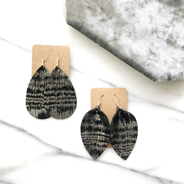 Silver Tremor Leather Earrings - Styled Simplicity
