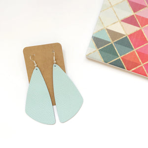 Mint Leather Earrings - Styled Simplicity