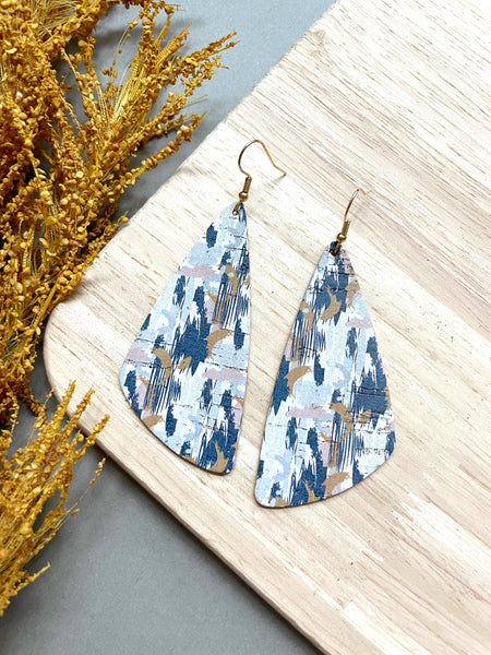Autumn Aztec Cork Leather Earrings - Styled Simplicity