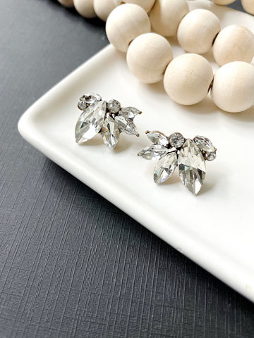 Crystal Cluster Post Earring - Styled Simplicity