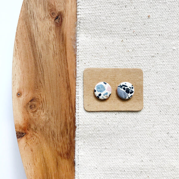 Confetti Crush Leather Earring Studs - Styled Simplicity