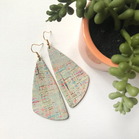 Mint Sunset Leather Earrings - Styled Simplicity