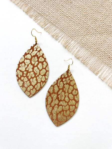 Golden Cheetah Suede Leather Earring - Styled Simplicity