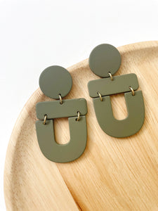 Green Meadow Geometric Acrylic Earrings - Styled Simplicity