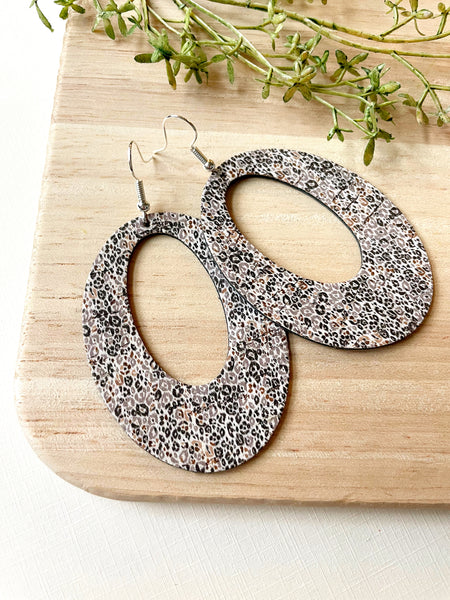 Mini Spring Leopard Leather Earrings - Styled Simplicity