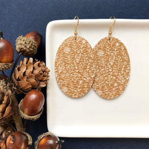 Mustard Fields Leather Earrings - Styled Simplicity