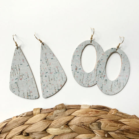 Confetti Party Leather Earrings - Styled Simplicity