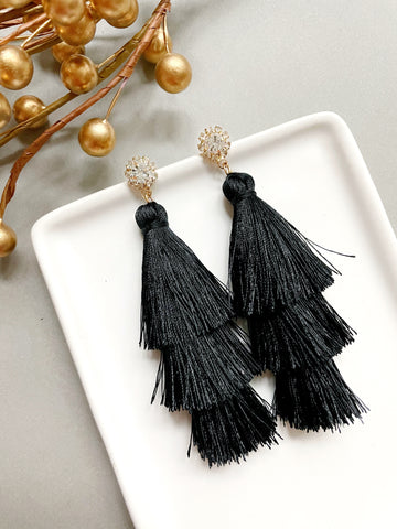 Black Statement Tassels - Styled Simplicity