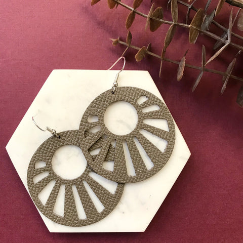 Stardust Shimmer Starburst Leather Earrings - Styled Simplicity