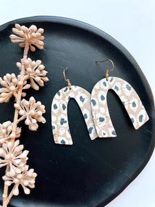 Persian Leopard Cork Leather Earrings - Styled Simplicity