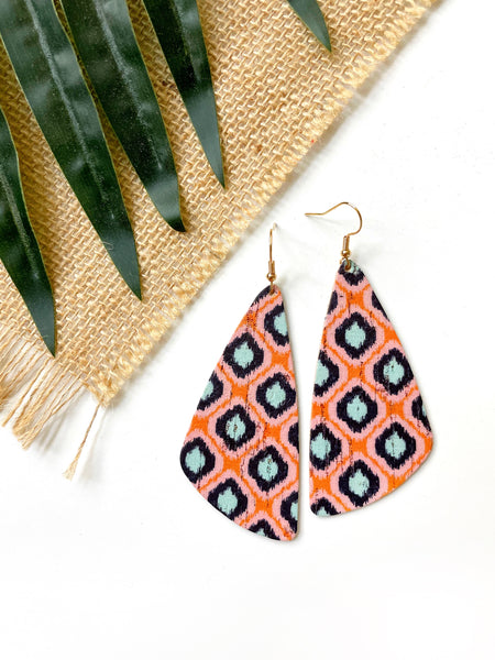 Janie Abstract Leather Earrings - Styled Simplicity