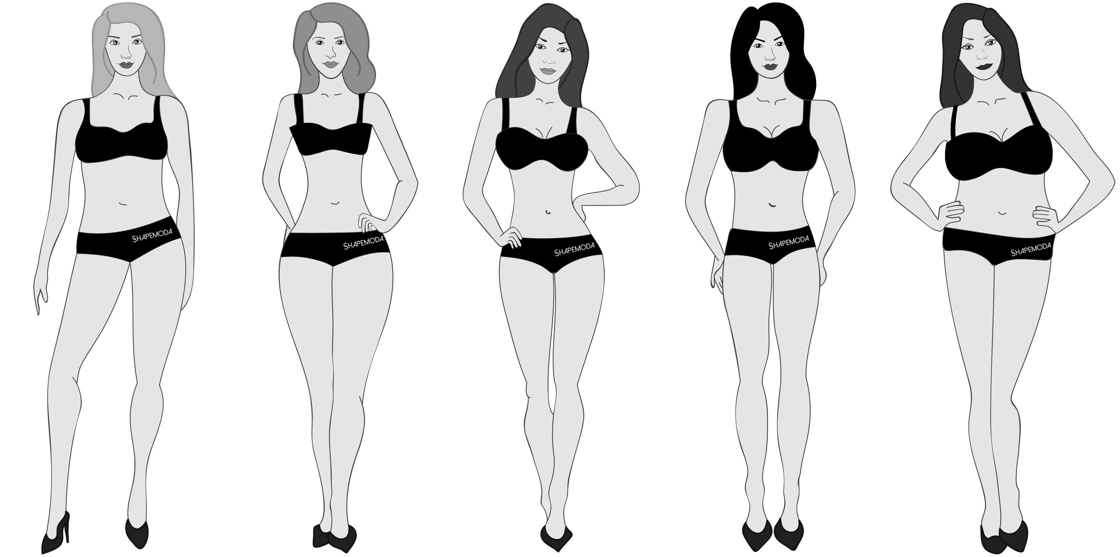What are the different body shapes for trousers for women?
