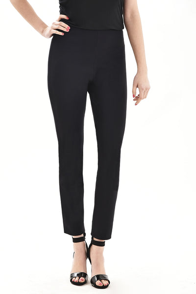 Apple fit black trousers front view