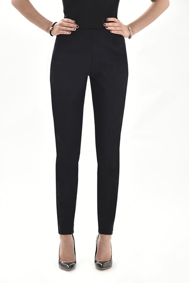 Black plain trousers in our hourglass fit. Stocked all over Ireland .