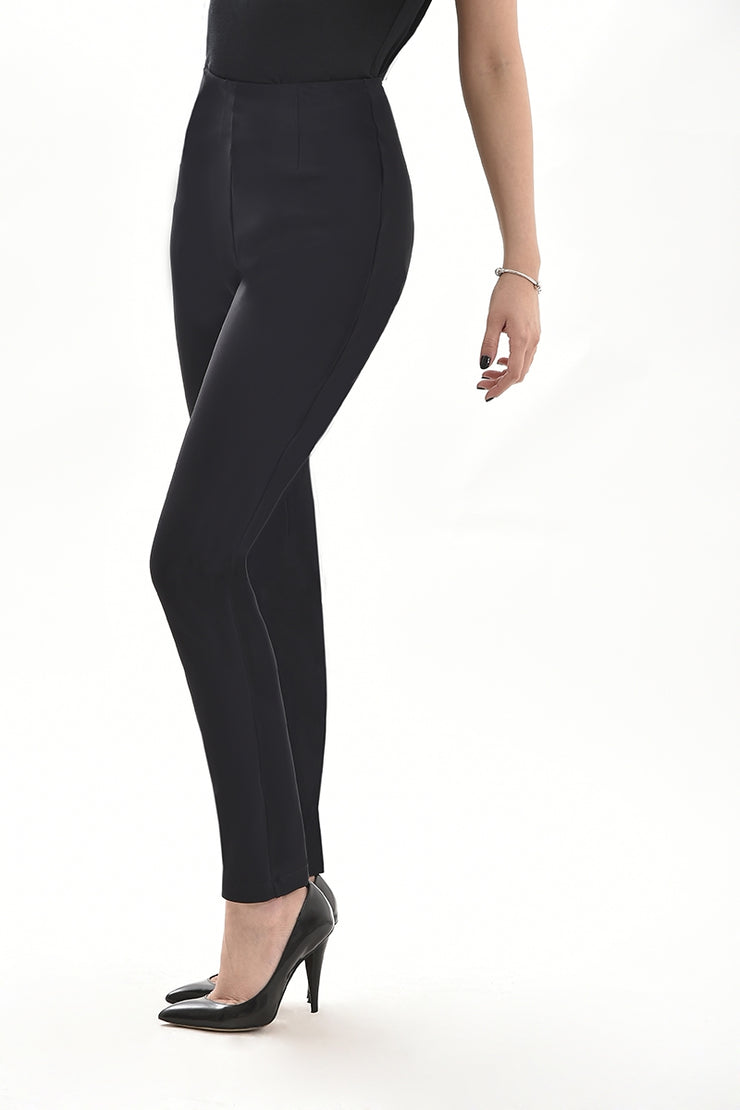 Plain Black trousers especially designed for women.Five shapes available in every size. What's your shape?
