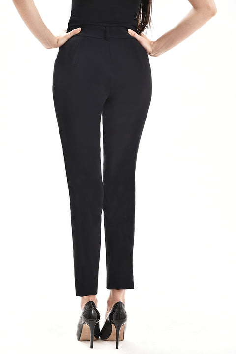 Pear shaped women's black trousers designed for the pear body shape.