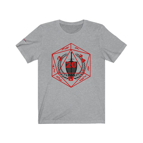 Unisex Tabletop RPG D20 Fighter Class Tee - Dungeoneers Den