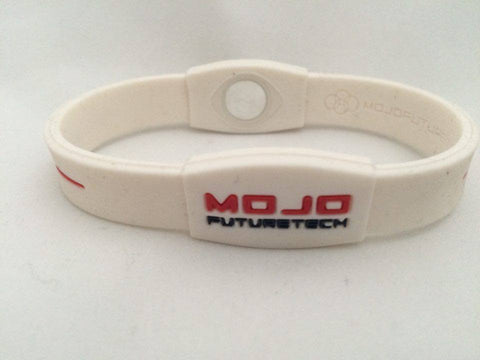 Mojo Advantage Elite Double Wristband size 8  white red blue