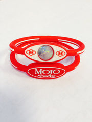 "MOJO wristband 6"" Single disc Red and White"