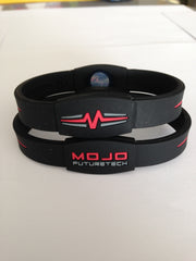 "MOJO wristband 8"" Elite  Black and Red"
