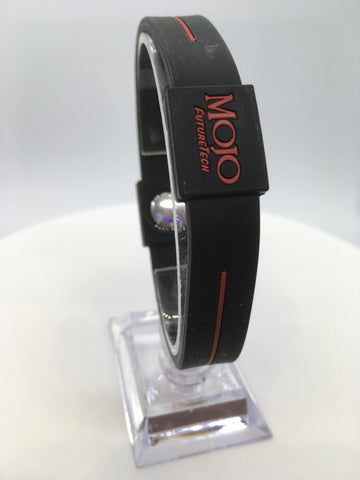 "MOJO wristband 8"" Classic Black and Red"