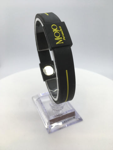 "MOJO wristband 8"" Classic Black and Yellow"