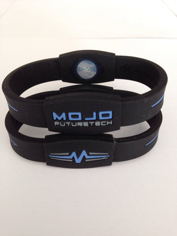 "MOJO wristband 8"" Elite  Black and Blue"