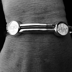 MOJO and HI HO :925 Sterling Silver bangle Size LARGE