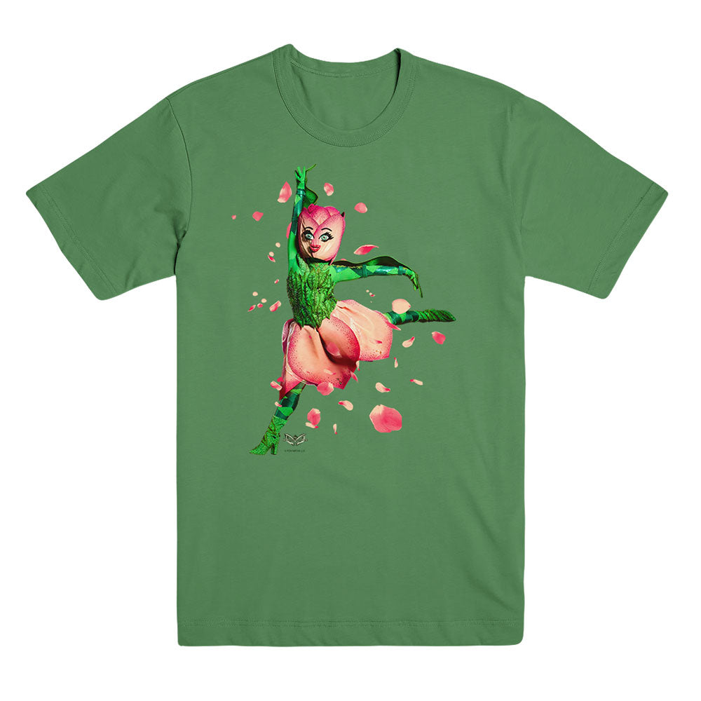The Masked Dancer Tulip Green Unisex Tee