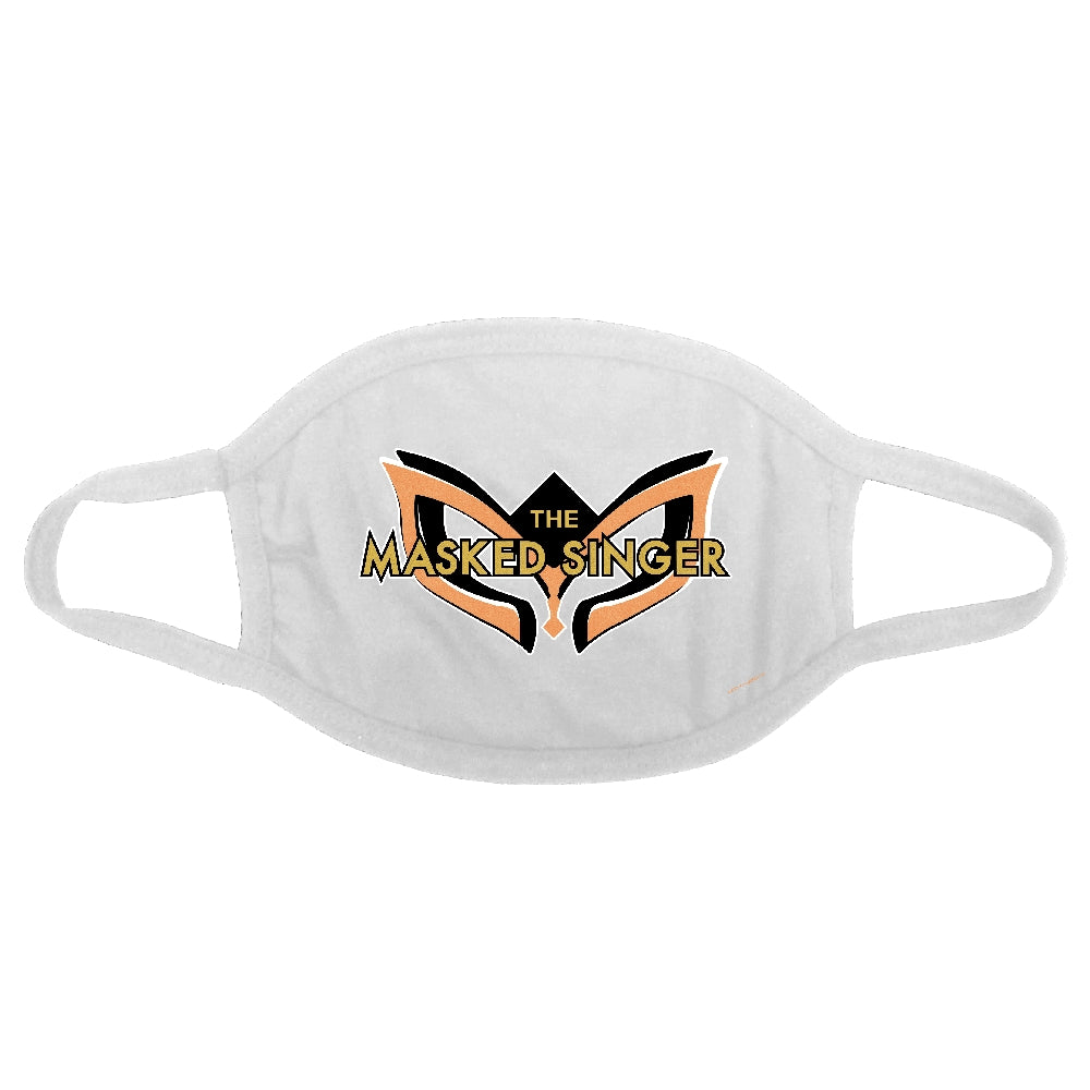 The Masked Singer Shimmer Logo Face Mask, White Fabric