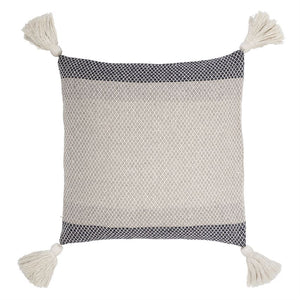 Color Block Pillow with Tassels