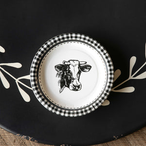 Cow Paper Plate - 7""