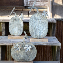 Load image into Gallery viewer, Weathered Tin Pumpkin