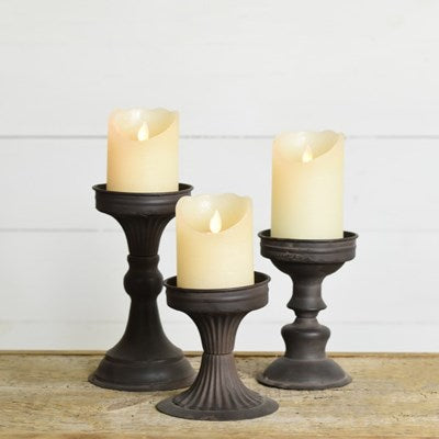 Black Tin Candle Stand - Large
