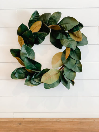 Rich Green Magnolia Wreath