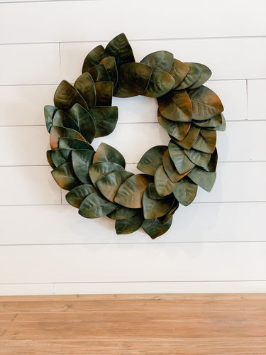 Multi-Tone Magnolia Wreath