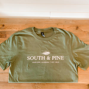 South & Pine T-Shirt - Olive