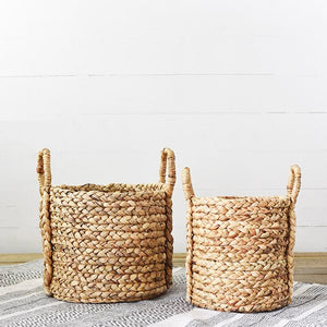 Hyacinth Round Tub Basket