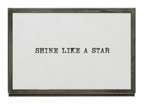 Metal Easel Frame - Shine like a star