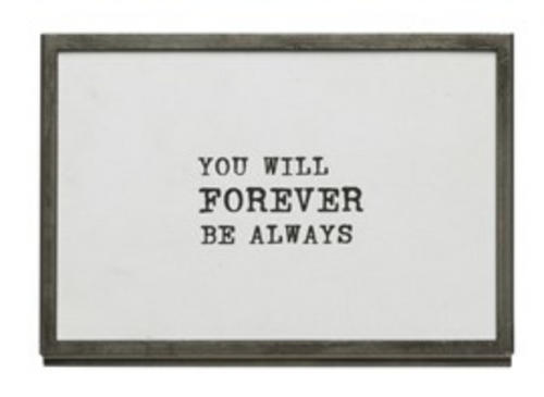 Metal Easel Frame - You will forever