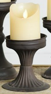 Black Tin Candle Stand - Small
