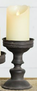 Black Tin Candle Stand - Medium