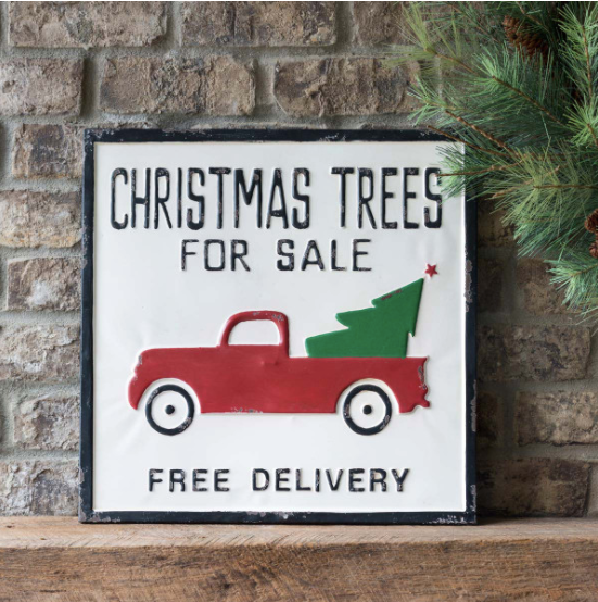Christmas Trees for Sale & Free Delivery Metal Sign