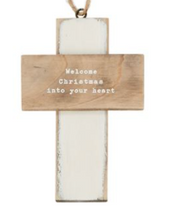 Load image into Gallery viewer, Wooden Cross Ornament