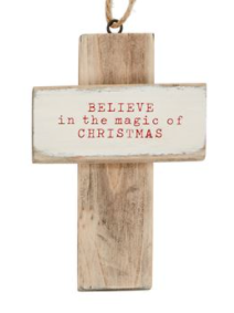 Wooden Cross Ornament