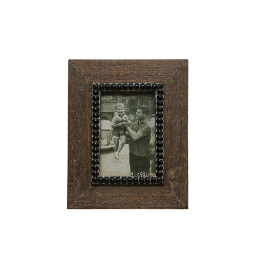 Wood Beaded Frame