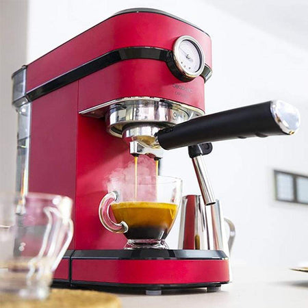 Machine à expresso rouge à pression Cecotec